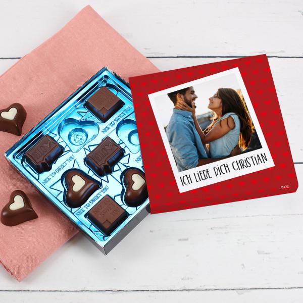 Lindt-Pralinen zum Valentinstag mit Fotoverpackung