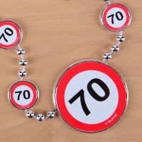 Partykette Verkehrszeichen 70