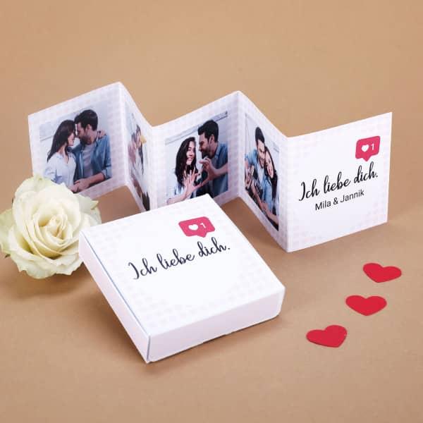 Mini Fotobuch für Verliebte mit Ihren Fotos und Wunschtext