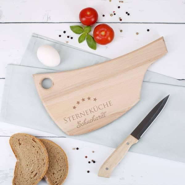 Holzbrett in Axtform - Sterneküche