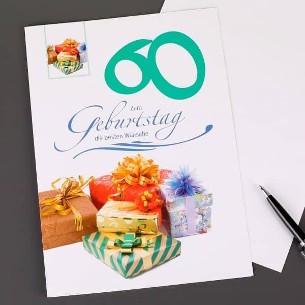 Glückwunschkarte zum 60. Geburtstag in XXL