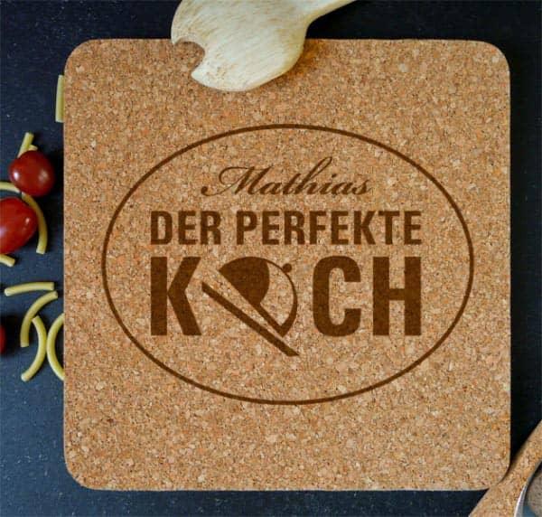 Untersetzer aus Kork der perfekte Koch