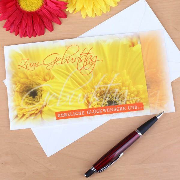 Die Karte zum Geburtstag -  Sonnenblumen