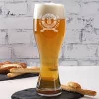 Personalisiertes Leonardo Weizen-Bierglas Bierkenner 2