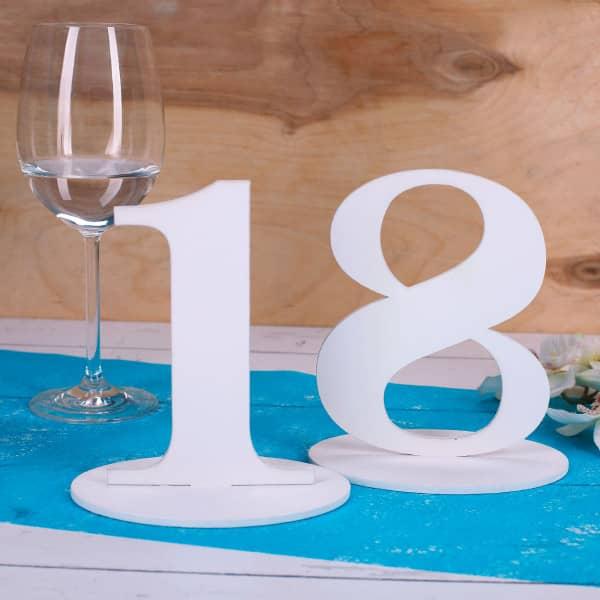 Tischnummer 18 für Geburtstag