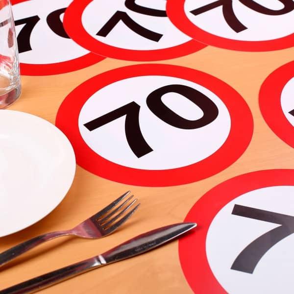 XXL Konfetti zum 70. Geburtstag