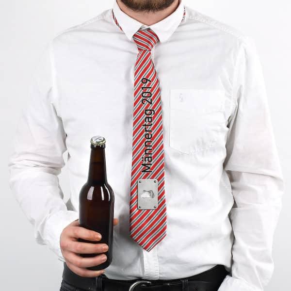Krawatte mit Flaschenöffner und Wunschtext