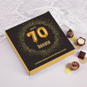 Lindt Schokolade zum 70 Geburtstag
