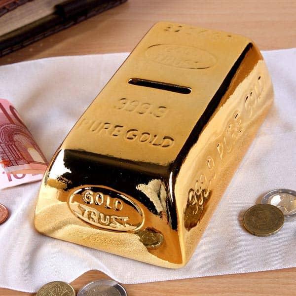 Goldbarren als Spradose