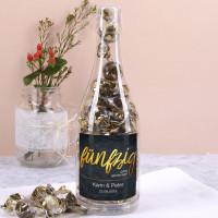 Pralinenflasche - Fünfzig - zur Goldenen Hochzeit