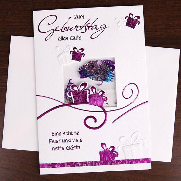 Grußkarte in lila