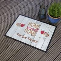 Home sweet Home Fußmatte mit Namen