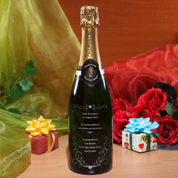 edler Champagner mit frei wählbarem Wunschtext