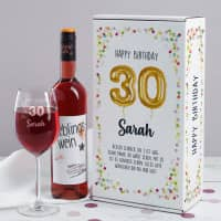 Happy Birthday 30 - Wein Geschenkset zum 30. Geburtstag