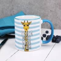 Du bist großartig! - Tasse mit Giraffe und Name