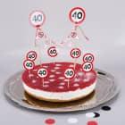 Torten-Deko Set zum 40. Geburtstag
