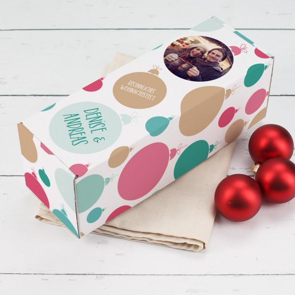 Verpackung für Weihnachtsgeschenke mit Foto, Wunschname und Text