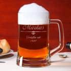 Bierseidel mit schlichtem Motiv und persönlicher Gravur