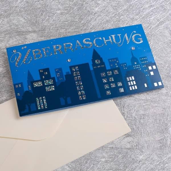 Grußkarte Überraschung mit Tasche für Geldgeschenk