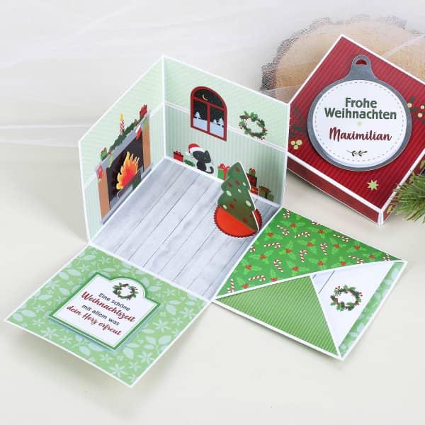 Geschenkbox zu Weihnachten - Verpackung für Gel...