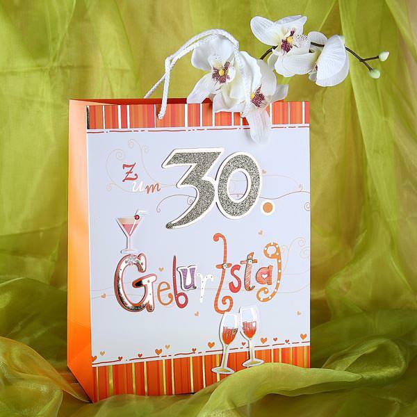 Geschenktüte zum 30. Geburtstag