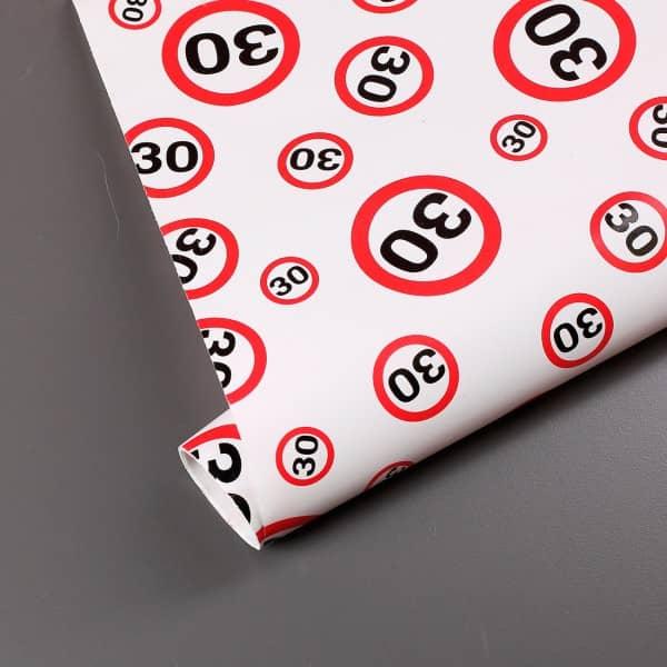 Geschenkpapier zum 30. Geburtstag
