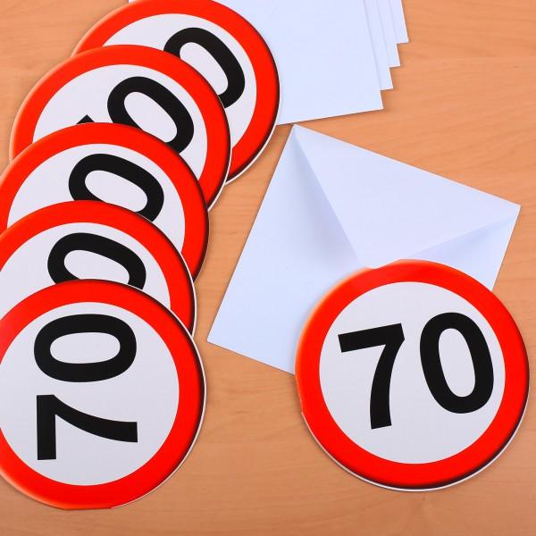 Einladungskarten speziell zum 70. Geburtstag