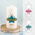 Erstklassig - Kerze zum Schulanfang mit Name in drei Varianten