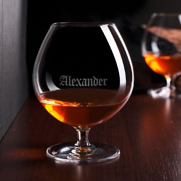 Graviertes Weinbrandglas mit Wunschnamen