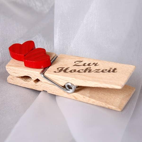Geldklammer - Herz- Zur Hochzeit