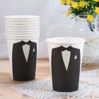 10 Pappbecher im Mr Design zur Hochzeit