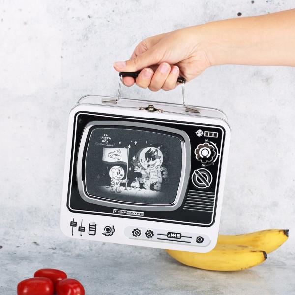 Lunchbox mit 3D-RasterbIld