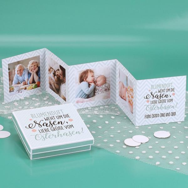 Mini Fotobuch zu Ostern in passender Geschenkbox