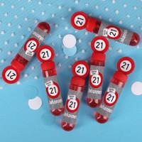 6er Set Seifenblasen zum Geburtstag mit persönlichem Druck