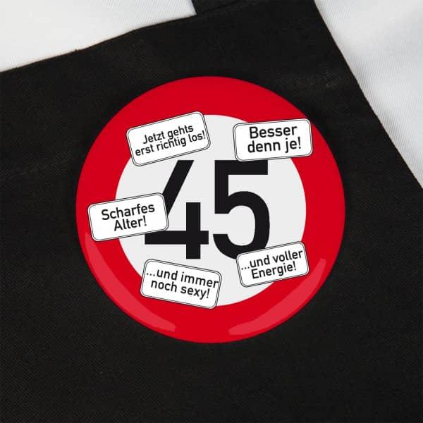 Button zum 45. Geburtstag