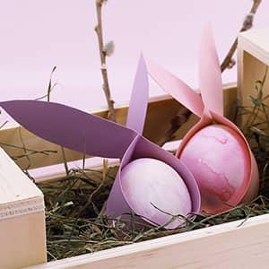 Niedliche Hasenohren für Ostereier