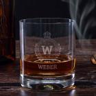 Whiskyglas mit Monogramm und Name