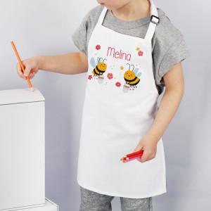 Kinderschürze Bienchen mit Name personalisiert