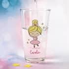 Trinkglas bedruckt mit Ballerina und Wunschname