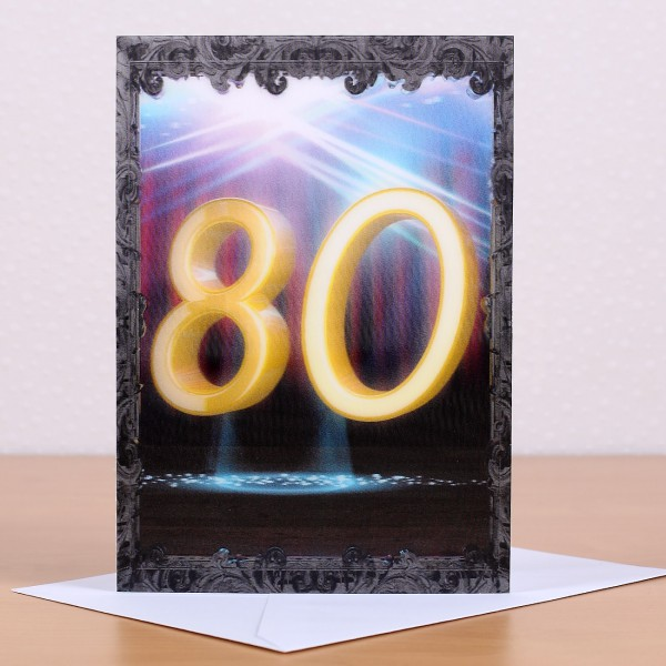 Wackelkarte zum 80.Geburtstag