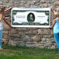 XXL Geburtstagsbanner personalisiert - Dollarschein