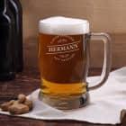gravierter Bierkrug Genießer mit Namen von Leonardo