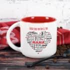 Muttertagsgeschenk - großer Kaffeepott mit Herz und Wunschtext