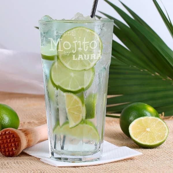 Cocktailglas mit Wunschgravur für Mojito