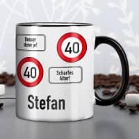 Persönliche Tasse - Achtung 40