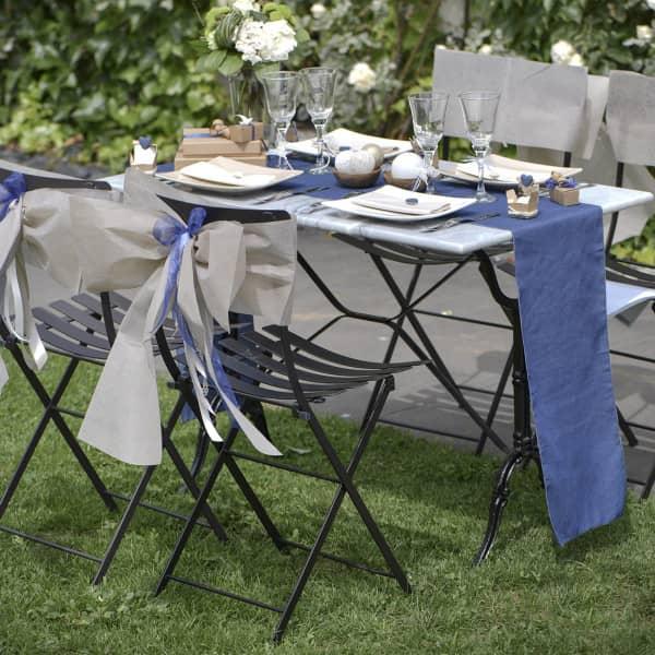 Tischläufer im blauen Jeans Look