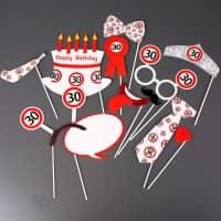 Photo Booth - Set für Partyfotos zum 30. Geburtstag