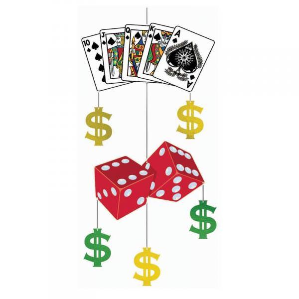 Hängedekoration Poker