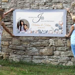 Hochzeitsbanner mit Foto