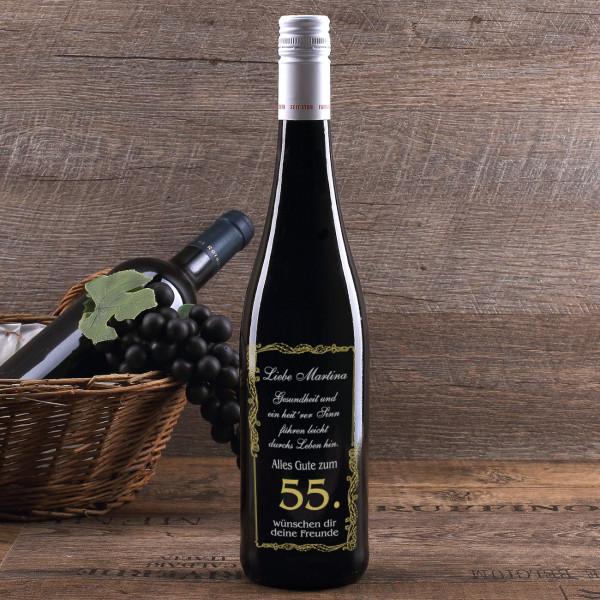 Flasche Wein Mit Gravur Zum Geburtstag